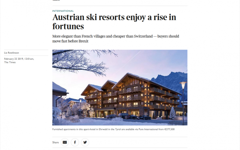 Austrian ski resorts enjoy a rise in fortunes
